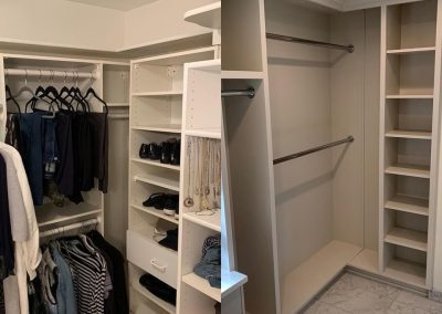 Closet before and after redesign