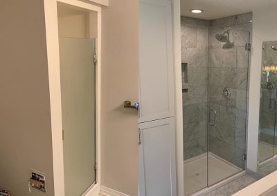 Bathroom shower before and after redesign