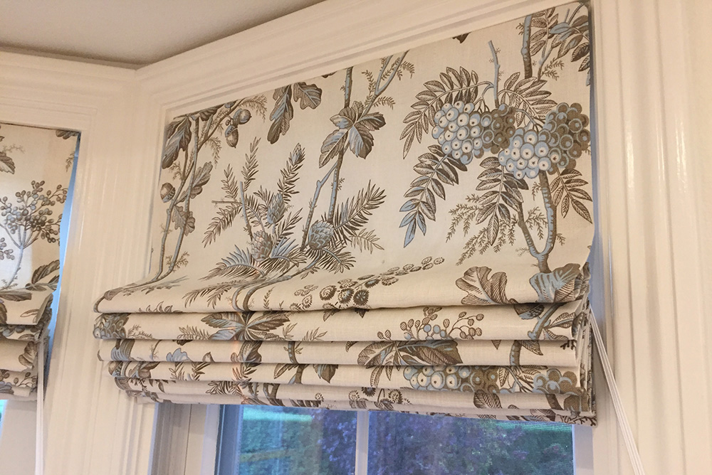 Window coverings after redesign